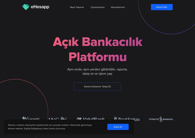 ehesapp website dark theme